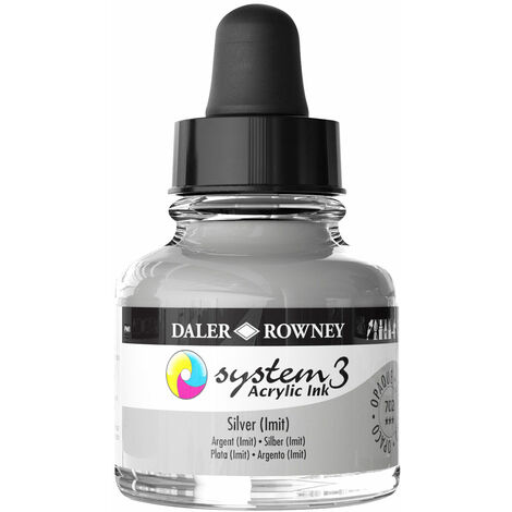 Daler-Rowney System3 Ink 29.5ml Silver Imit