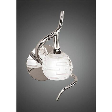 Dali wall light with 1-light switch G9, polished chrome