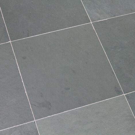 Dallage Ardoise Grise 40x40cm - vendu par lot de 0.96 m²
