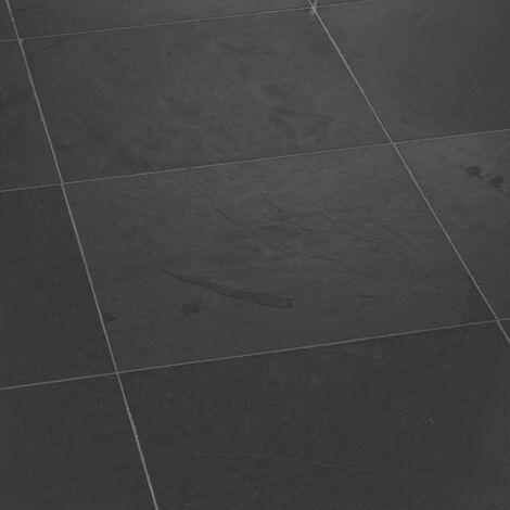 Dallage Ardoise Noire 40x40cm - vendu par lot de 0.96 m²