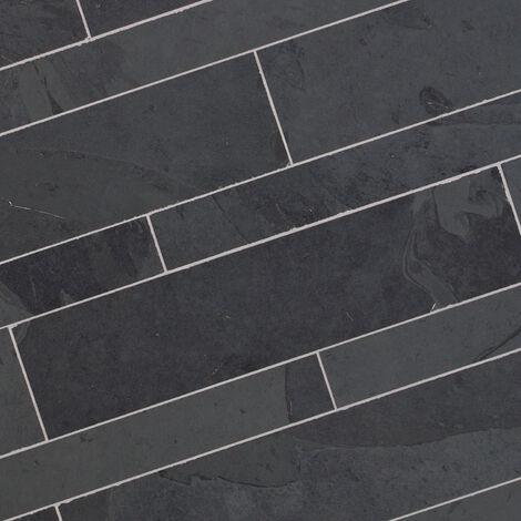 Dallage Ardoise Noire 60x14cm - vendu par lot de 1.008 m²