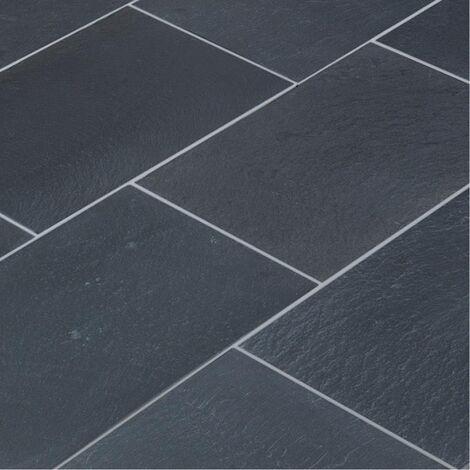 """main image of """"Dallage Quartzite Noire Malaga Black 60x40cm - vendu par lot de 0.96 m² - Noir"""""""
