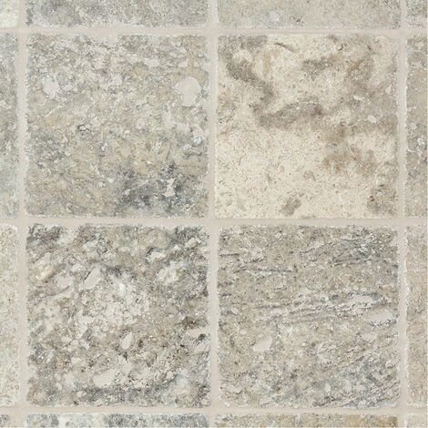 Dallage Travertin Gris 15x15cm - vendu par lot de 0.54 m² - Gris