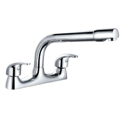 Dallas Chrome Deck Mounted Kitchen Sink Mixer