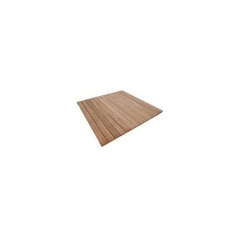 Dalle AKOLA en bois Exotique 100 x 100 - Haute qualité