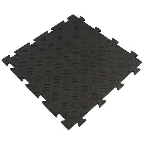 Dalle clipsable en PVC (grain de riz) - Noir 50 x 50 cm - Noir