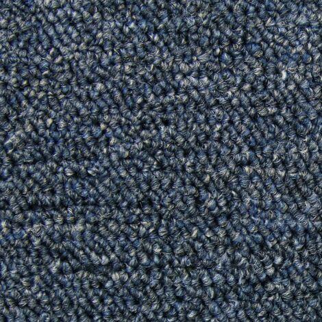 Dalle de Moquette Couleur Bleu tempête, 20 Dalles de 50cm x 50cm (5m²)