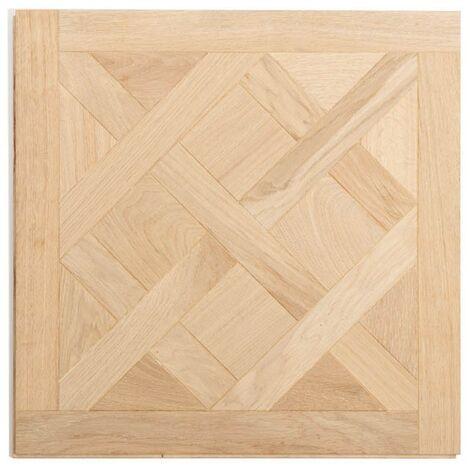 Dalle de parquet Versailles -Chêne -Vernis mat -Aspect bois brut - 60x60 cm | 0.36 mètre carré