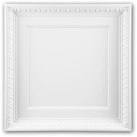 Dalle de plafond 157001 Profhome Élement pour plafond Dalle pour mur et plafond style Néo-Empire blanc