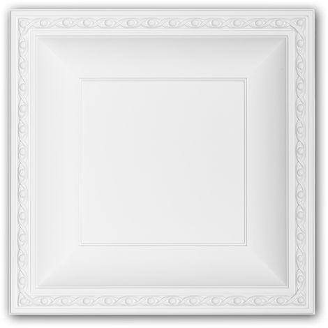 Dalle de plafond 157004 Profhome Élement pour plafond Dalle pour mur et plafond style Néo-Empire blanc