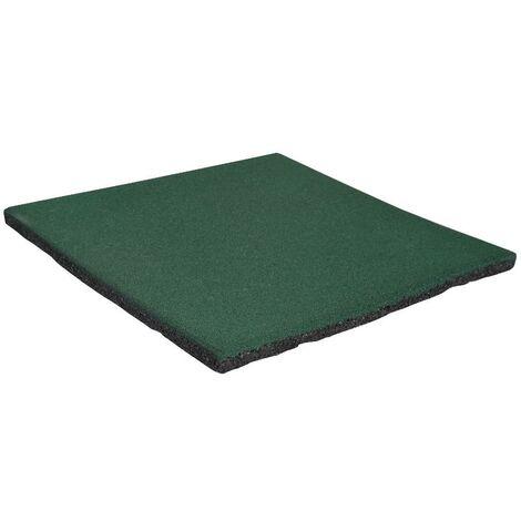 Dalle de sécurité amortissante Vert 50x50cm