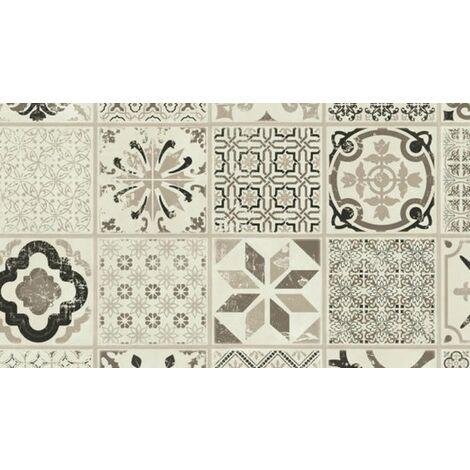 Dalle de sol PVC clipsables pour professionnels - boite de 9 dalles sol vinyle imitation carreau de ciment - 1,68m² - ID Essentiel Click 30- retro noir et blanc- TARKETT