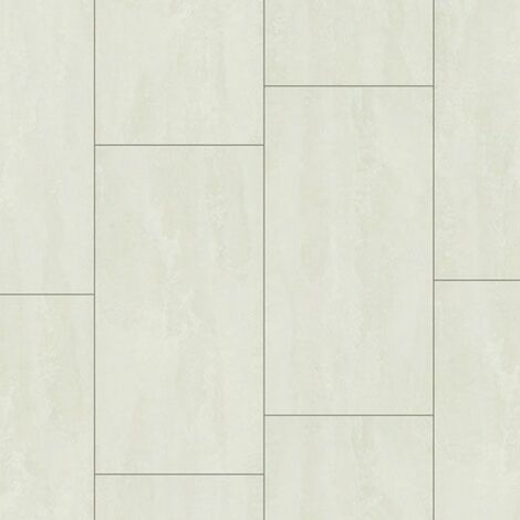 Dalle de sol stratifié compatible cuisine salle de bain - Pierre Edelweiss - Paquet de 1,454m²