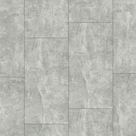 Dalle de sol stratifié compatible cuisine salle de bain - Pierre Gris Etoile - Paquet de 1,454m²