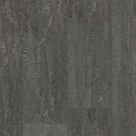 Dalle de sol stratifié compatible cuisine salle de bain - Pierre Gris Titane - Paquet de 1,454m²