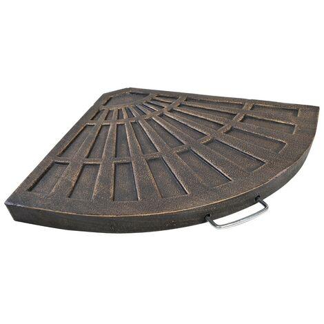 Dalle de stabilisation pied de parasol en croix Gris 4.5 cm
