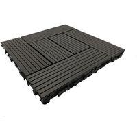 Dalle de terrasse bois composite Classic 30 x 30 cm