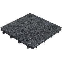 Dalle de terrasse clipsable en gravillon noir - Noir