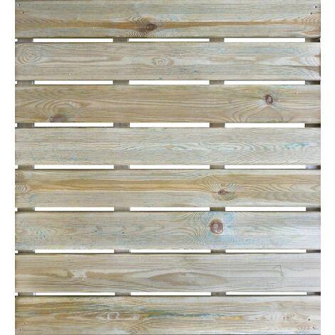 Dalle de terrasse en bois traitement autoclave classe IV- épaisseur de 35mm dim. 1000x1000 mm JULIA
