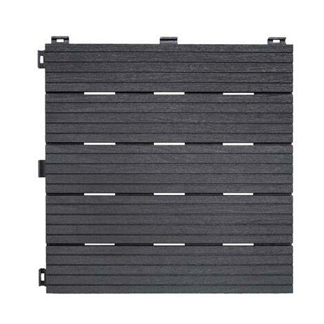 Dalle de terrasse grise 30x30cm lot de 6