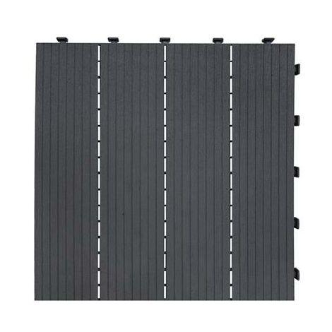 Dalle de terrasse grise 45x45cm
