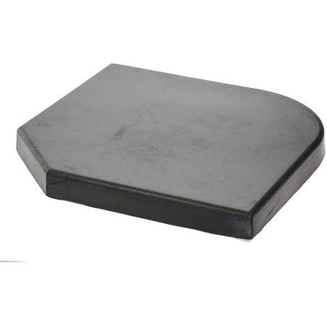 Dalle en ciment pour parasol déporté - 20 kg - Noir - Noir