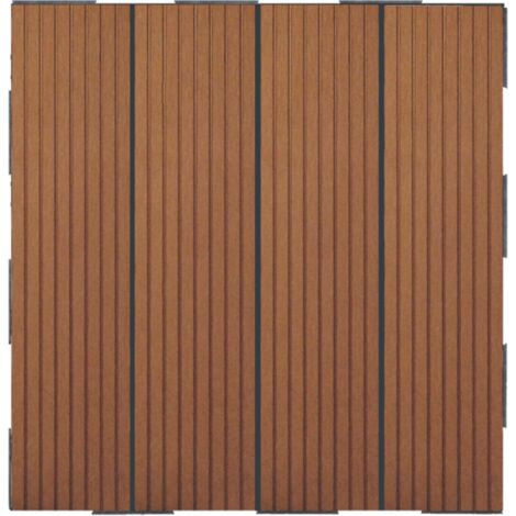 Dalle en composite Snap & Go (lot de 4) - Brun 30 x 30 cm - Brun