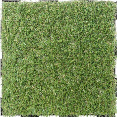 Dalle en gazon synthétique (lot de 4) - Vert 30 x 30 cm - Vert