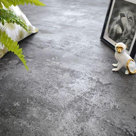Dalle large sol vinyle Performance - Click à plat - Béton gris argenté - Paquet de 2,51m²