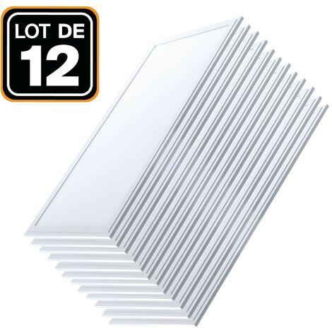 Dalle LED 1200x300 40W lot de 12 pcs Blanc Neutre 4000k Haute Luminosité - Plusieurs modèles disponibles