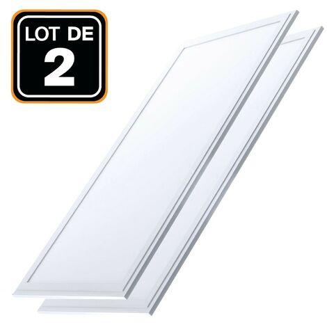 """main image of """"Dalle LED 1200x300 40W lot de 2 pcs Blanc Froid 6000k Haute Luminosité - Plusieurs modèles disponibles - Blanc Froid 6000k"""""""