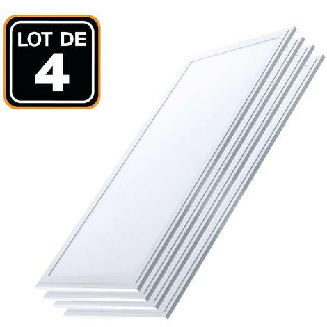 Dalle LED 1200x300 40W lot de 4 pcs Blanc Neutre 4000k Haute Luminosité - Plusieurs modèles disponibles