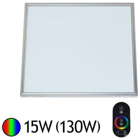 Dalle Led 15W (140W) Alu 300x300 RGB avec télécommande