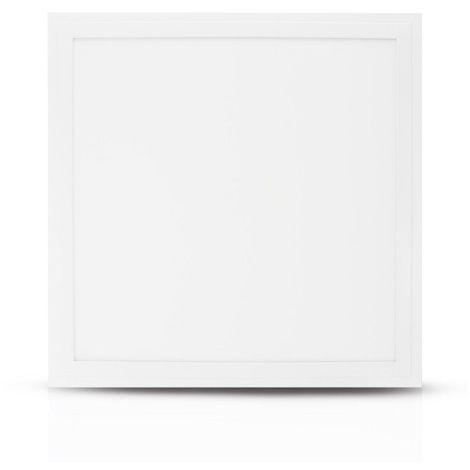 Dalle LED 18W (160W) 295x295 Blanc chaud 3000°K Alu blanc