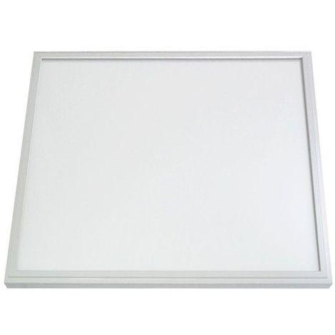 Dalle LED 28W (250W) 600x600 Blanc neutre 4000°K Alu blanc