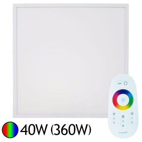 Dalle Led 40W (360W) 600x600 RGB avec télécommande RF