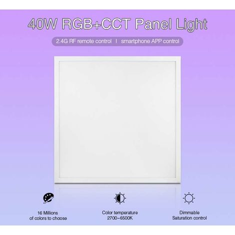 Dalle LED 40W 600x600mm RGB CCT UGR 19 | RGB + CCT