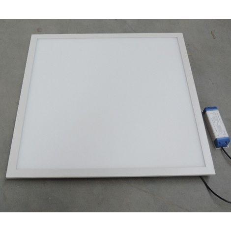 Dalle LED 40W encastré cadre blanc pavé 600x600mm 4000K 3200lm avec driver 230V non dimmable IP20 BE-LED BL04452003