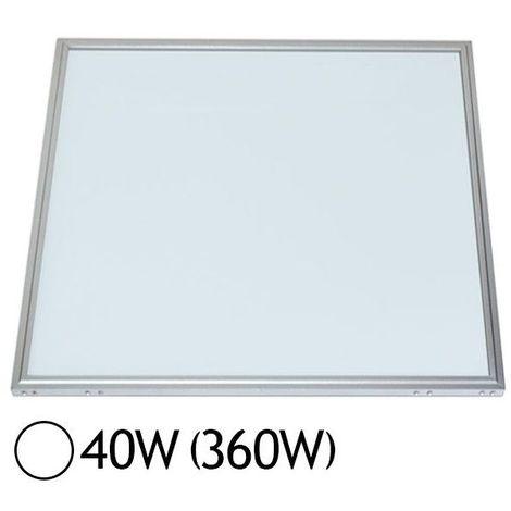Dalle LED 38W (360W) Alu 600x600 Blanc jour 6000°K
