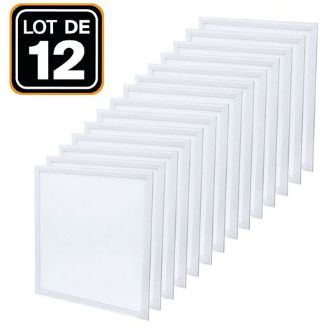Dalle LED 600x600 40W lot de 12 pcs Blanc froid 6000k Haute Luminosité - Plusieurs modèles disponibles