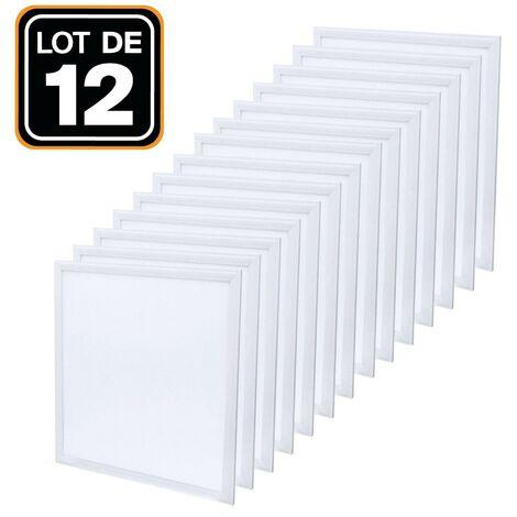 Dalle LED 600x600 40W lot de 12 pcs Blanc Neutre 4000k Haute Luminosité - Plusieurs modèles disponibles - 12PCSDL4500K