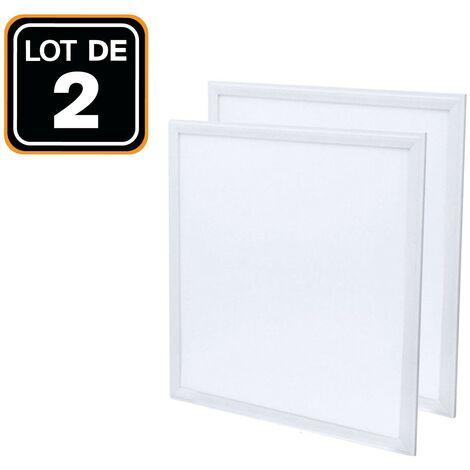 Dalle LED 600x600 40W lot de 2 pcs Blanc Neutre 4000k Haute Luminosité - Plusieurs modèles disponibles