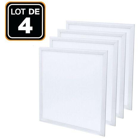Dalle LED 600x600 40W lot de 4 pcs PMMA Blanc froid 6000k Haute Luminosité - Plusieurs modèles disponibles