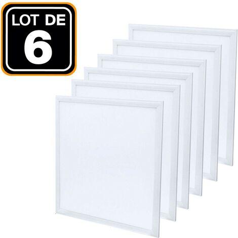 Dalle LED 600x600 40W lot de 6 pcs PMMA blanc neutre 4000k - Plusieurs modèles disponibles