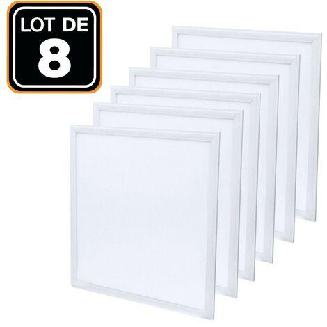 Dalle LED 600x600 40W lot de 8 pcs Blanc Neutre 4000k Haute Luminosité - Plusieurs modèles disponibles