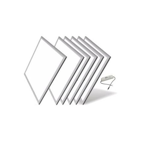 Dalle LED 60x60 Slim 48W ALUMINIUM (Pack de 5)