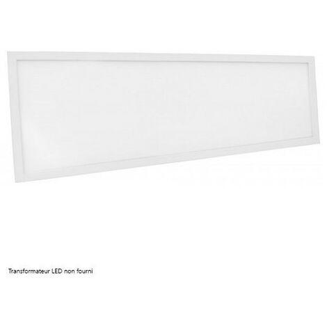 Dalle LED DeliTech® Cadre Blanc - 120x30cm - 40W ( Alimentation non fournie)