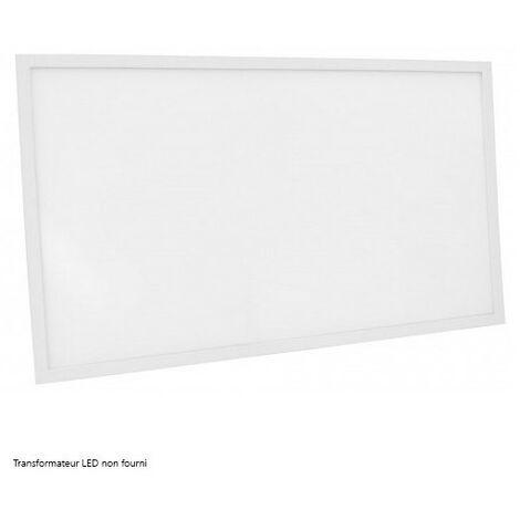 Dalle LED DeliTech® Cadre Blanc - 120x60cm - 75W ( Alimentation non fournie)