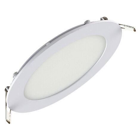 Dalle LED extra plate ronde blanc 12W (Eq. 96W) 6400K Diam 170mm