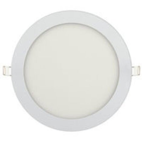 Dalle LED extra plate ronde blanc 15W (Eq. 120W) 4200K Diam 195mm